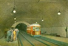 Boston Subway, 1922